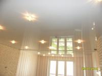 Натяжной потолок глянцевый белый, фото 15