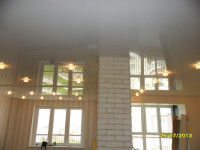 Натяжной потолок глянцевый белый, фото 14