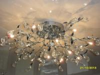 Люстра на глянцевом натяжном потолке, фото 10