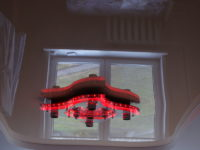 Двухуровневый натяжной потолок в гостиной, фото 110