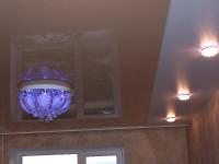 Натяжной потолок комбинированный, бежевый глянцевый и матовый белый, фото 40