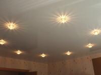Натяжной потолок глянцевый светло-серый, фото 49