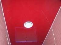 Натяжной потолок глянцевый красный в санузле, фото 65