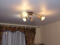 Натяжной потолок матовый светло-серый, фото 41
