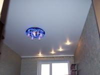 Натяжной потолок сатиновый белый, фото 59