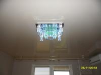 Натяжной потолок глянцевый светло-серый, фото 5