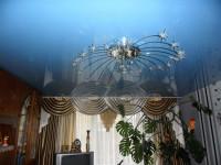 Глянцевый синий натяжной потолок, фото 2