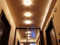 Натяжной потолок глянцевый бежевый в прихожей, фото 42