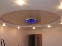 Двухуровневый потолок в зале, фото 53