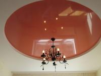 Натяжной потолок многоуровневый, белый матовый и глянцевый розово-коричневый, фото 36