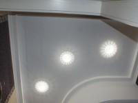 Натяжной потолок матовый белый в ванной, фото 79
