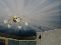 Натяжной потолок с фотопечатью на кухне, фото 121
